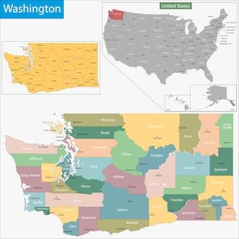 Карта вашингтона