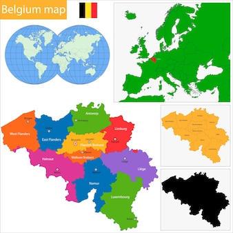 ベルギーの地図