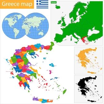 ギリシャの地図