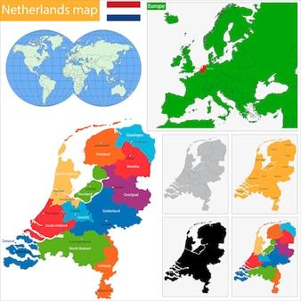 オランダの地図