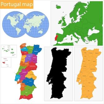 ポルトガルの地図