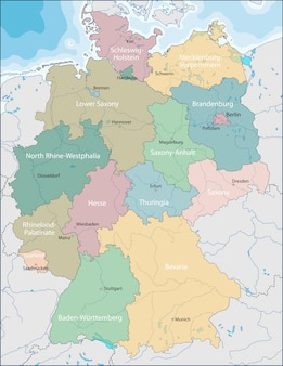 ドイツの地図