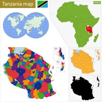 タンザニアの地図