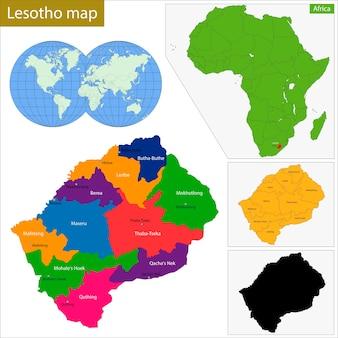 Карта лесото