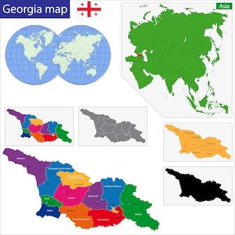 ジョージア州の地図