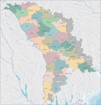 モルドバの地図