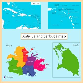 アンティグアバーブーダの地図