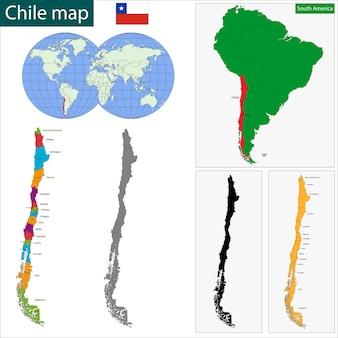 Карта чили