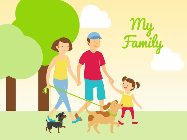 私の家族とペット