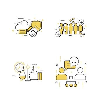 現代のビジネスコンセプトアイコンデザイン