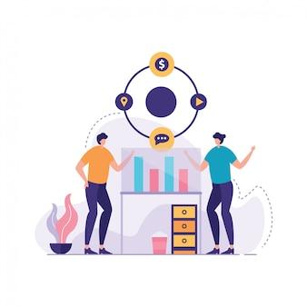 プロジェクトリーダーの概念ベクトル
