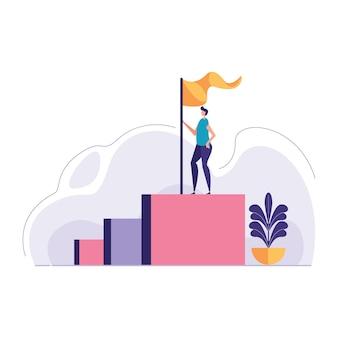 Концепция иллюстрации успеха в бизнесе