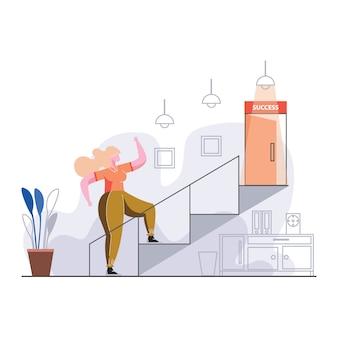 Иллюстрация «карьера к успеху»