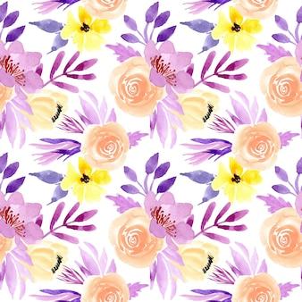 Пастель акварель цветочные бесшовные