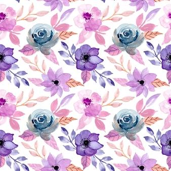 花の水彩画とビンテージのシームレスパターン
