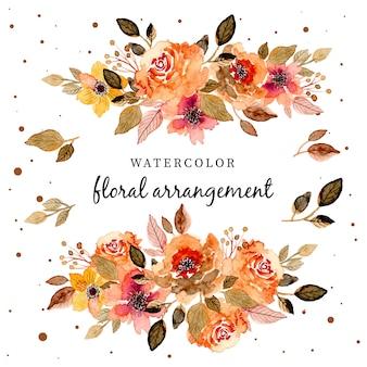Красивая цветочная акварельная композиция