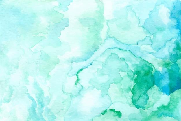 パステルグリーン水彩画の抽象的な背景