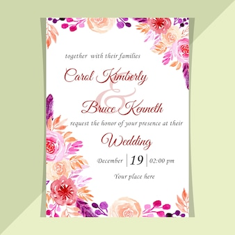 結婚式招待状の水彩画