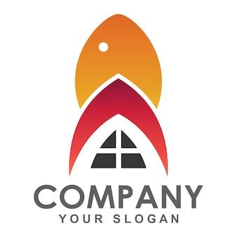 Логотип рыбного ресторана, логотип морепродуктов