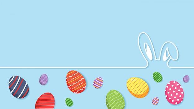 Пасхальный фон с яйцами