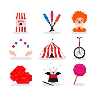 お祝いデザインのためのサーカス。