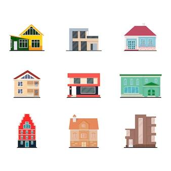 Современный жилой дом экстерьера для любых целей. городская архитектура.