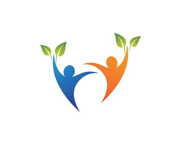 Дизайн иллюстрации символа здоровья человека