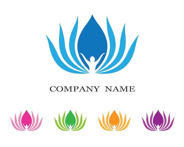 Лотос логотип иллюстрации