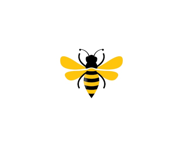 Пчела логотип значок иллюстрации