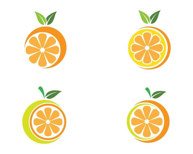 オレンジ色のロゴのテンプレートのアイコンイラストデザイン
