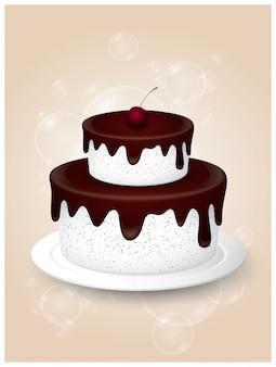 おいしい甘いケーキのイラスト