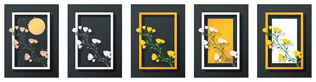 Картинная рамка и цветы
