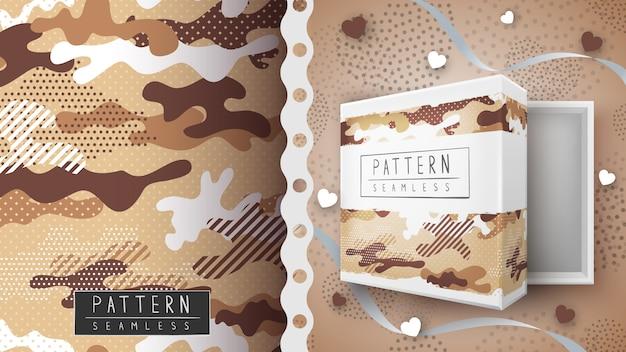 迷彩ミリタリーシームレスパターン-印刷のアイデア