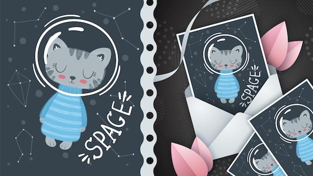 銀河猫-グリーティングカードのアイデア