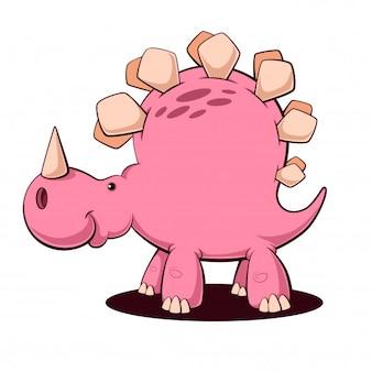 面白い漫画ディノ、恐竜の文字。