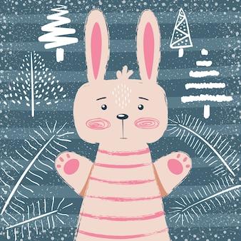 ウサギのキャラクター。