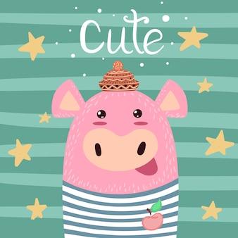 かわいい豚