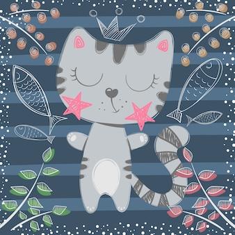 Милая маленькая принцесса кошка