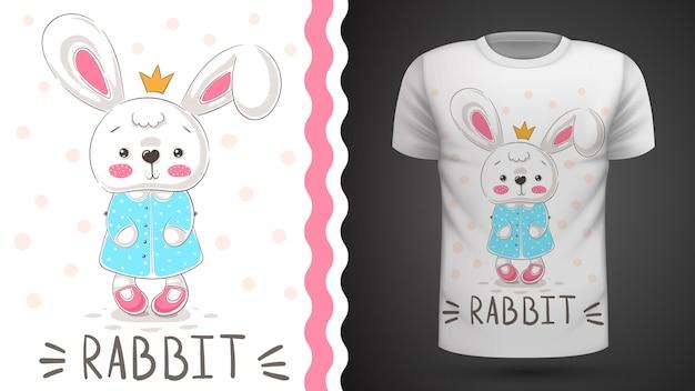 Кролик принцессы - идея для печати футболки