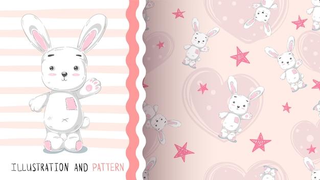 Идея милого кролика для футболки с принтом
