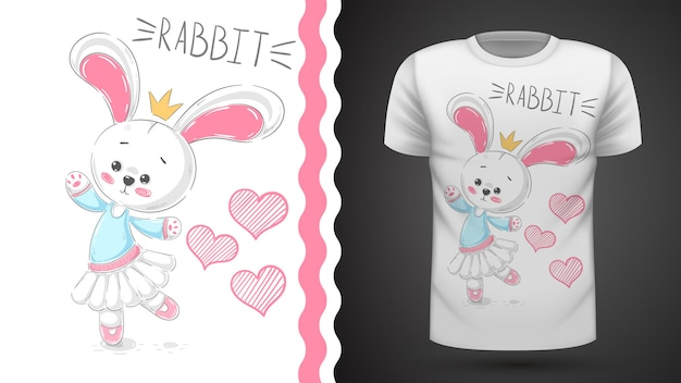 Танец кролика - идея для печати футболки