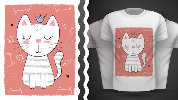 Кот, котенок - идея для печати футболки