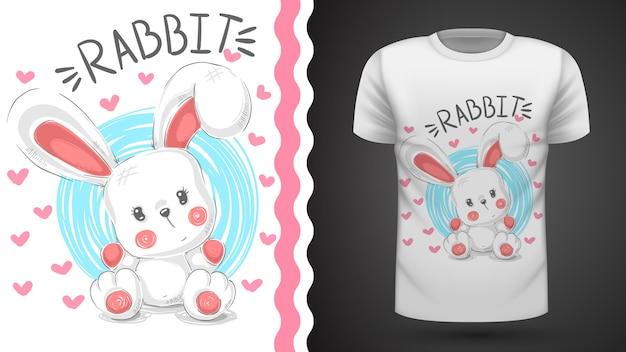 Кролик тедди, кролик - идея для печати футболки