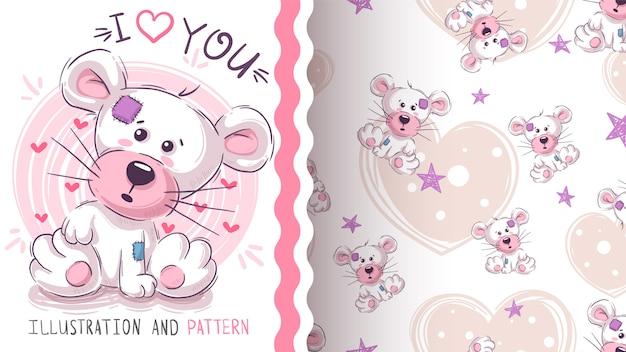 かわいいテディパンダ-シームレスなパターン