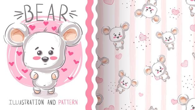 Милый белый медведь
