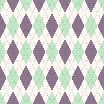 シームレスなアーガイルチェックの青いパターン。ダイヤモンドチェック。