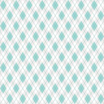 シームレスアーガイル格子縞の緑のパターン
