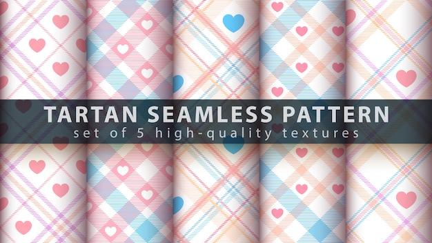 タータンのシームレスパターン