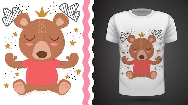 Идея плюшевого мишки для футболки с принтом