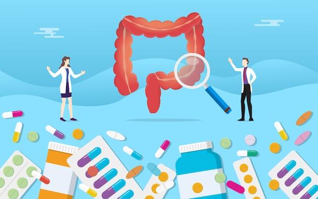 人間の大腸消化器健康薬薬カプセル治療